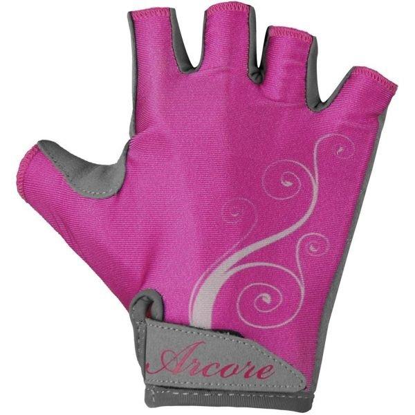 Růžové dámské cyklistické rukavice Arcore