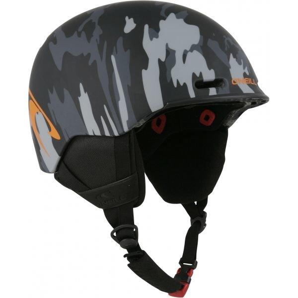 Černo-šedá lyžařská helma O'Neill - velikost 58-61 cm