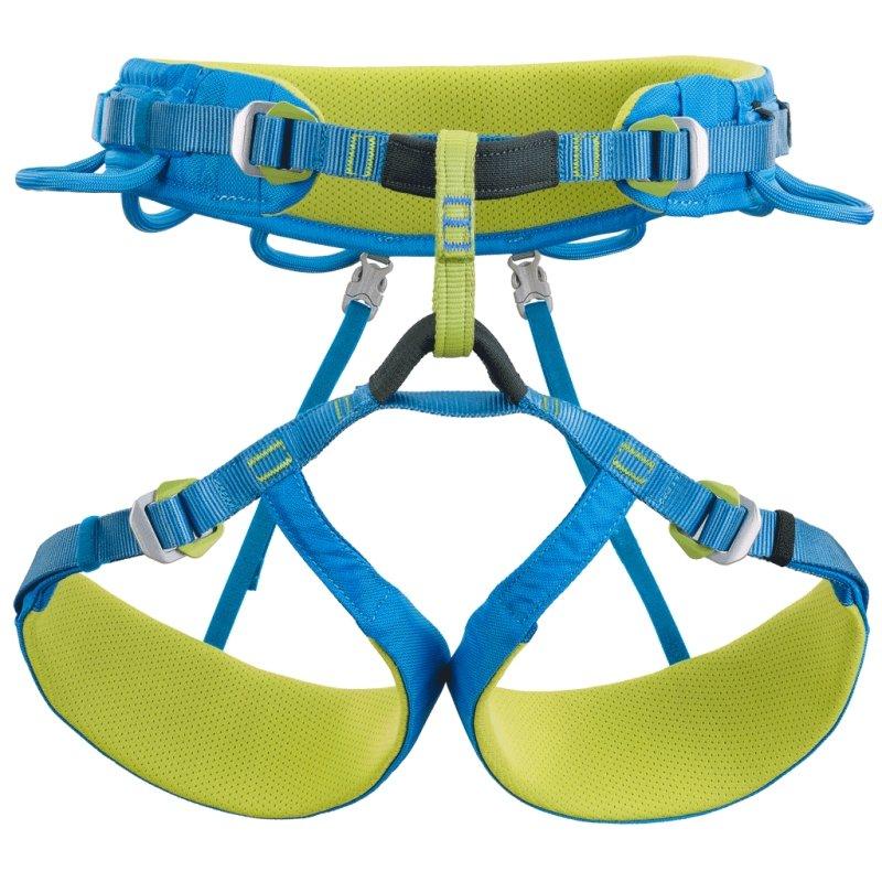 Modro-žlutý unisex horolezecký úvazek WALL HARNESS, Climbing Technology