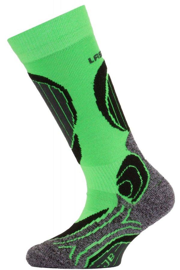 Zelené dětské lyžařské ponožky Lasting
