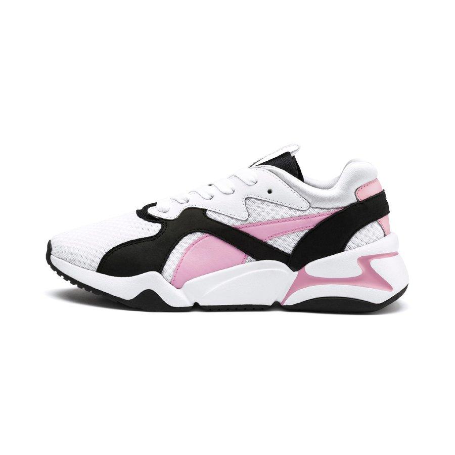 Bílo-růžové dámské tenisky Puma - velikost 40 EU