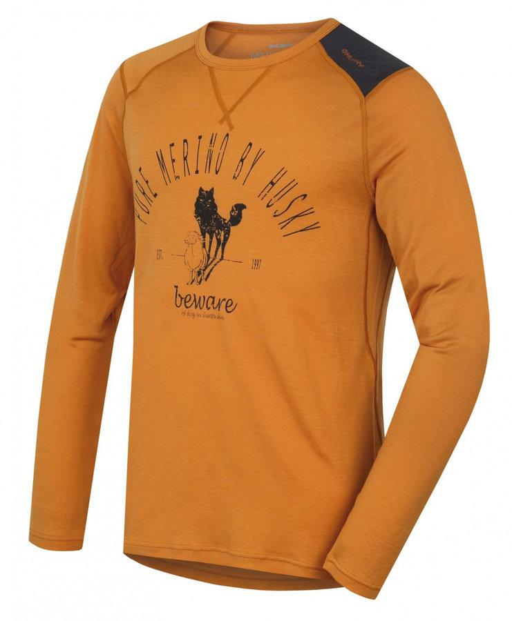 Oranžové pánské termo tričko s dlouhým rukávem Husky