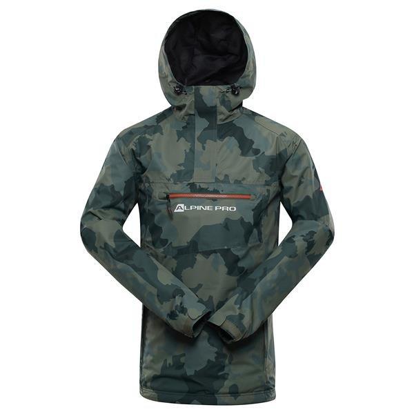 Šedá nepromokavá pánská bunda s kapucí Alpine Pro - velikost 3XL