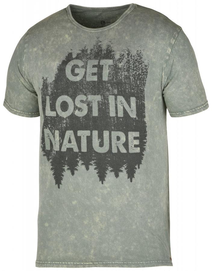 Zelené pánské tričko s krátkým rukávem Husky