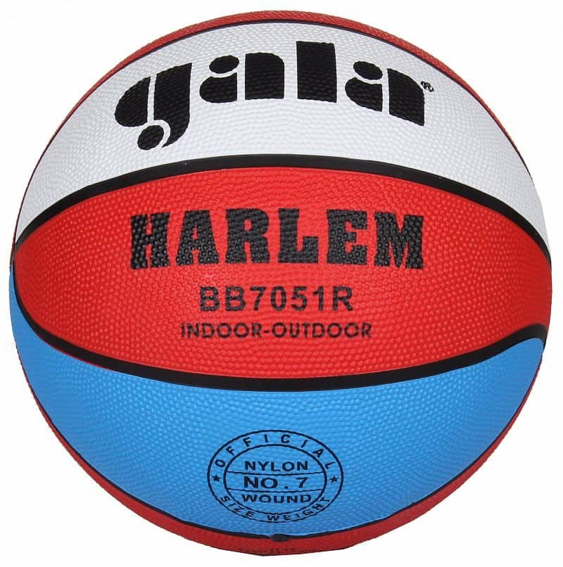 Různobarevný basketbalový míč Harlem BB7051R, Gala