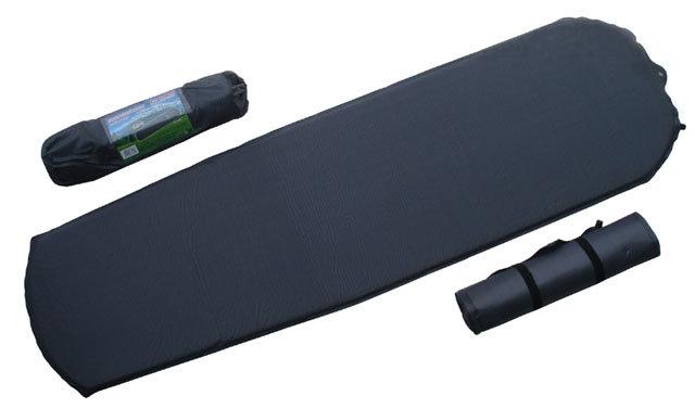 Šedá samonafukovací karimatka Acra - délka 183 cm, šířka 51 cm a tloušťka 2,5 cm