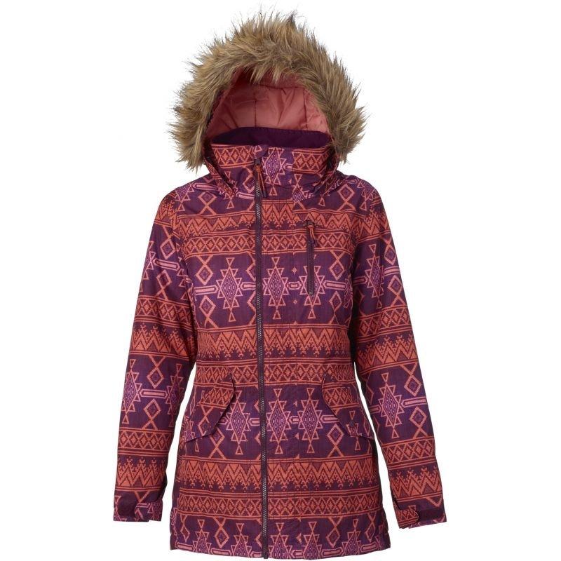 Červená dámská snowboardová bunda Burton - velikost M