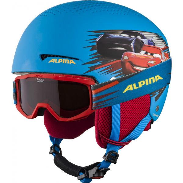 Modrá chlapecká lyžařská helma Alpina Sports