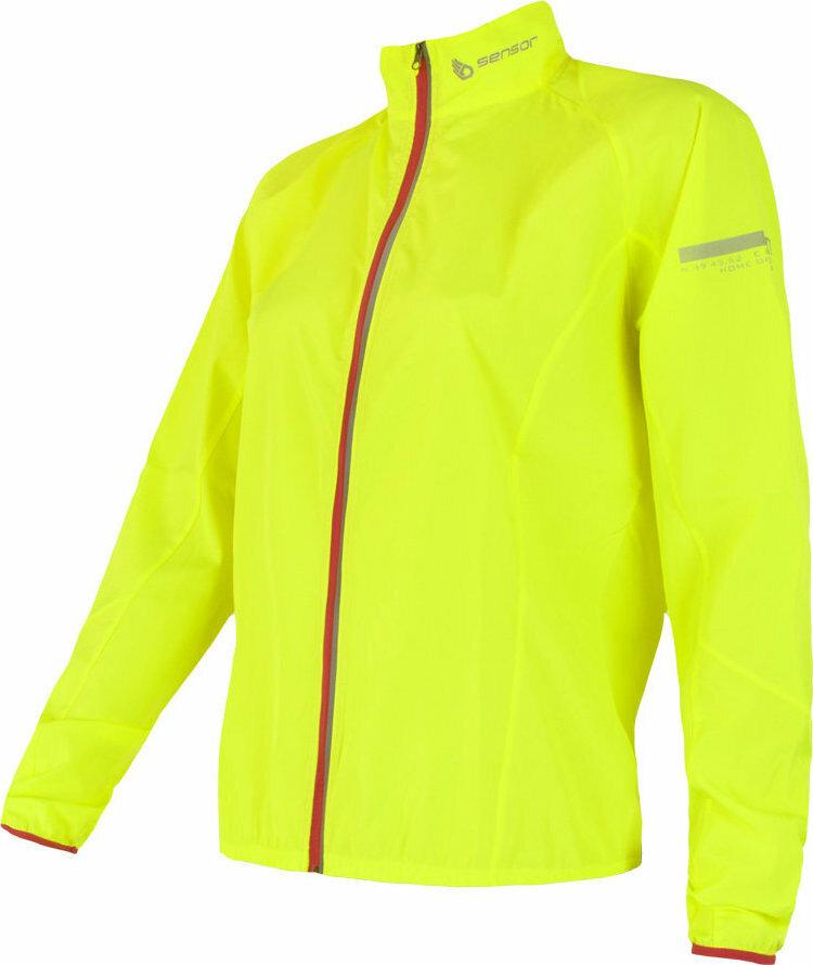 Žlutá dámská cyklistická bunda Sensor - velikost XL