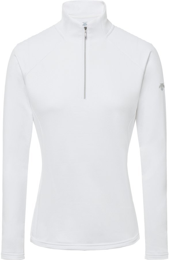 Bílá dámská lyžařská mikina bez kapuce Descente - velikost 40