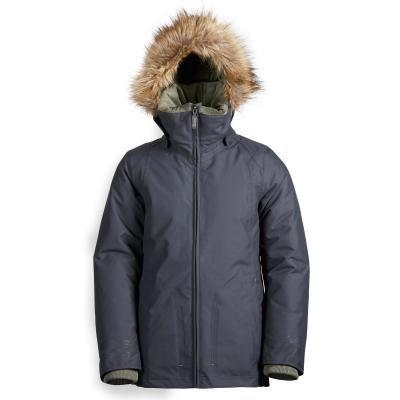 Šedá dětská zimní jezdecká bunda Fouganza