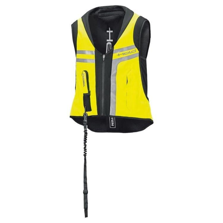 Černo-žlutá airbagová vesta Held
