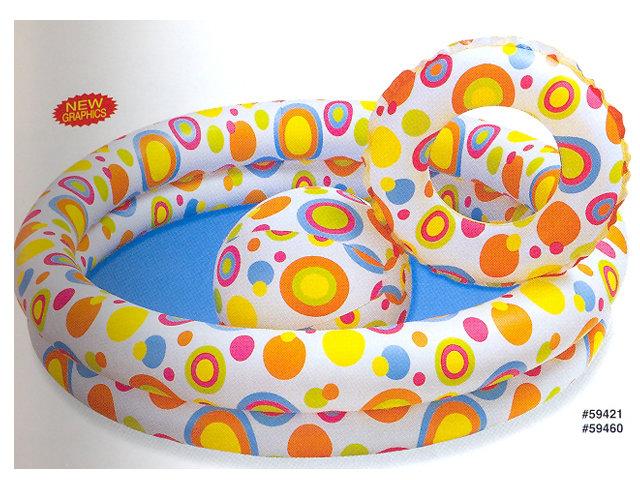 Dětský nafukovací nadzemní bazén INTEX - průměr 122 cm a výška 25 cm