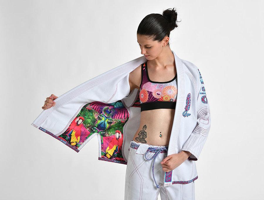 Bílé dámské kimono na jiu-jitsu Grips