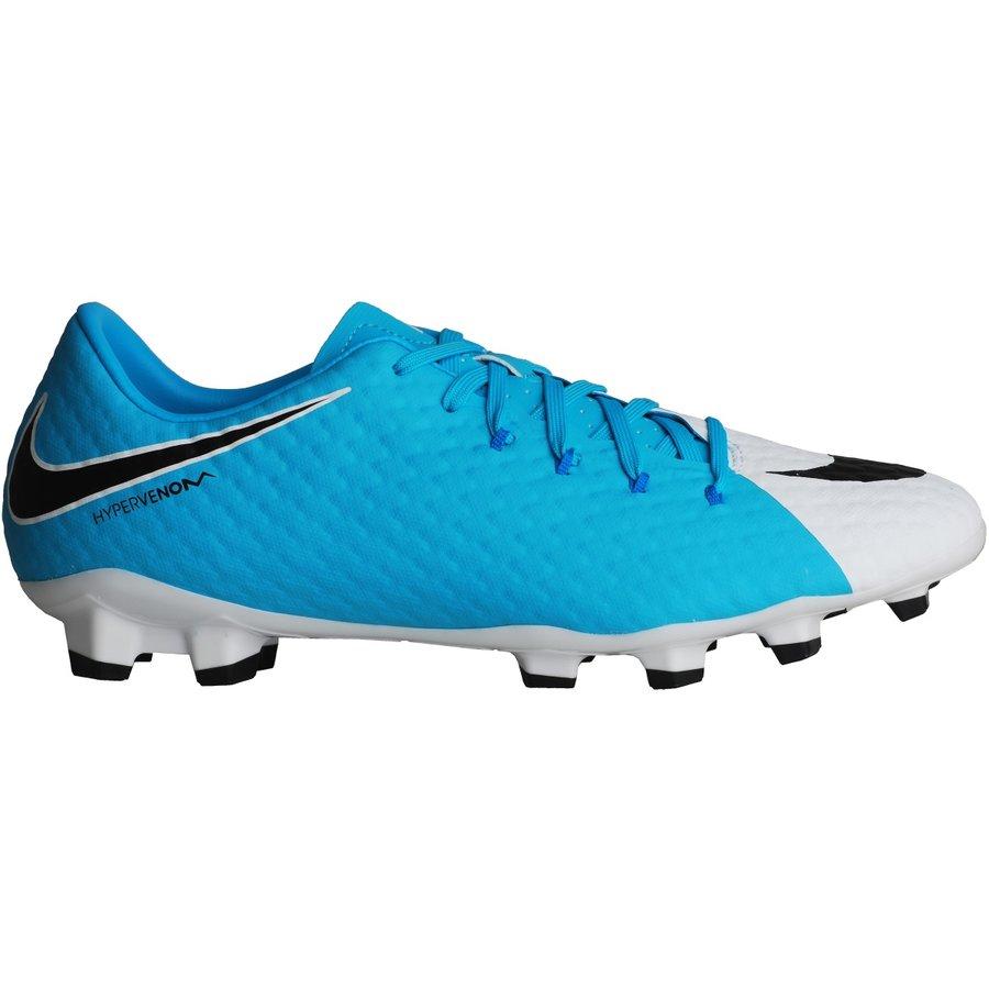 Bílo-modré kopačky lisovky HYPERVENOM PHELON III FG, Nike - velikost 42 EU