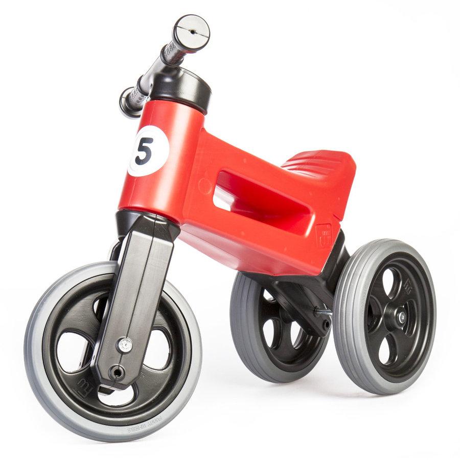 Černo-červené dětské odrážedlo Funny Wheels