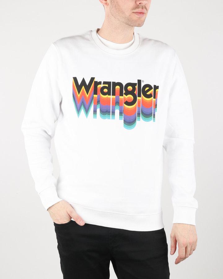Bílá pánská mikina bez kapuce Wrangler