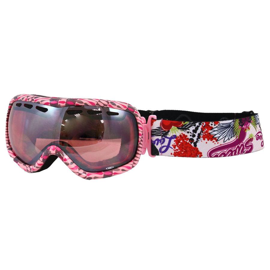 Lyžařské brýle - Lyžařské brýle WORKER Molly s grafikou růžová graf.
