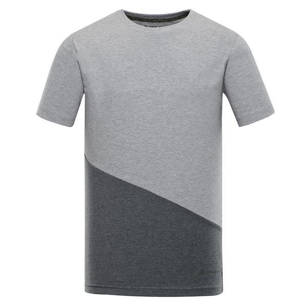 Šedé pánské tričko s krátkým rukávem Alpine Pro