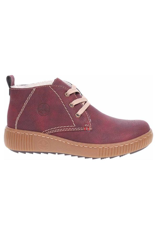 Červené dámské kotníkové boty Rieker - velikost 37 EU