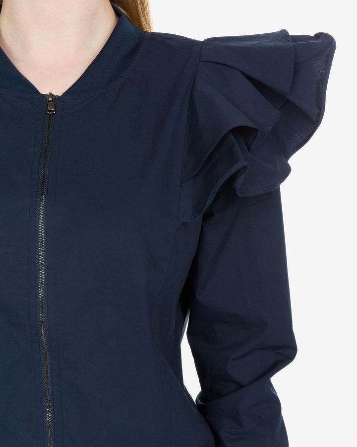 Modrá dámská bunda Selected - velikost 38