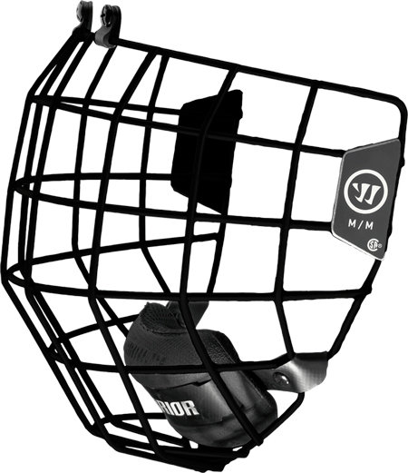 Černá hokejová mřížka Warrior