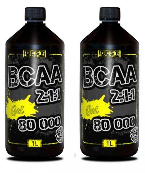 BCAA - 1+1 Akce: BCAA Gel 2:1:1 80 000 - Best Nutrition Grep 1000 ml + 1000 ml