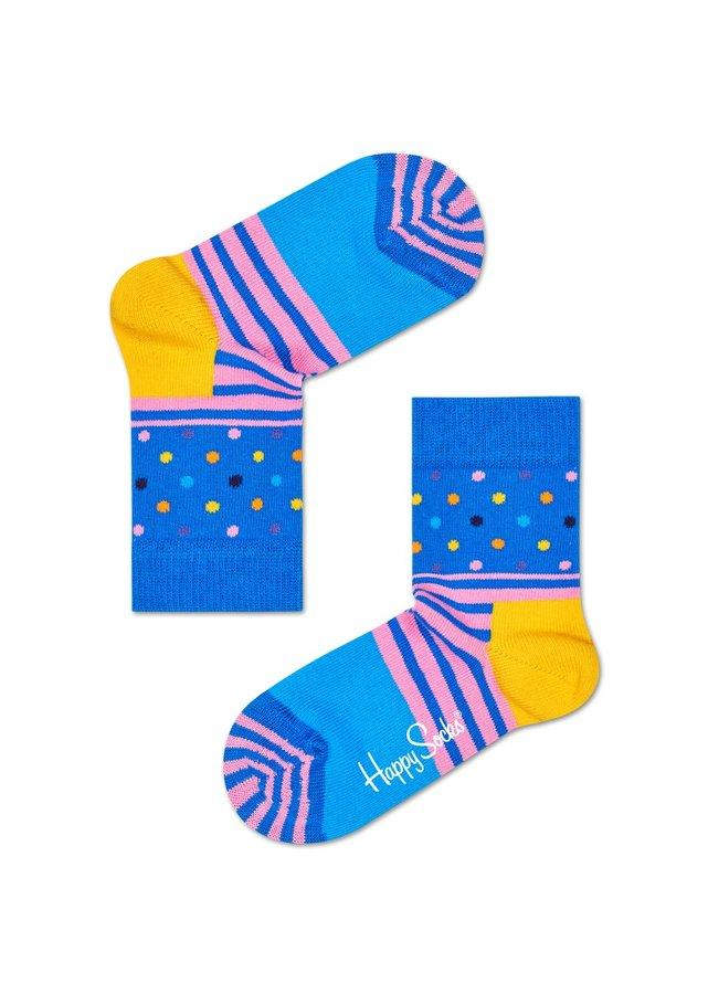 Ponožky - Happy Socks barevné dětské ponožky Stripe Dot - 15-18