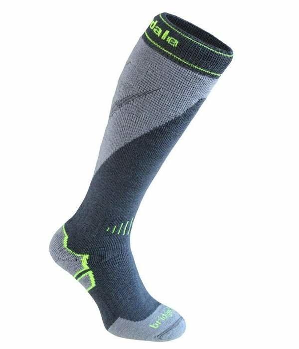 Modro-šedé pánské lyžařské ponožky Bridgedale