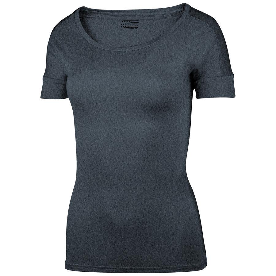 Černé dámské tričko s krátkým rukávem Husky