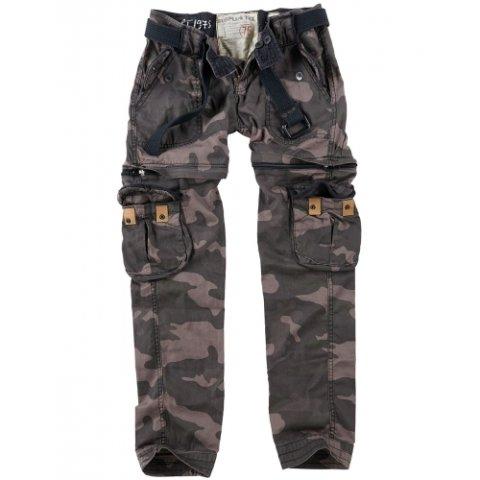 Kalhoty - Kalhoty dámské TREKKING PREMIUM BLACK CAMO
