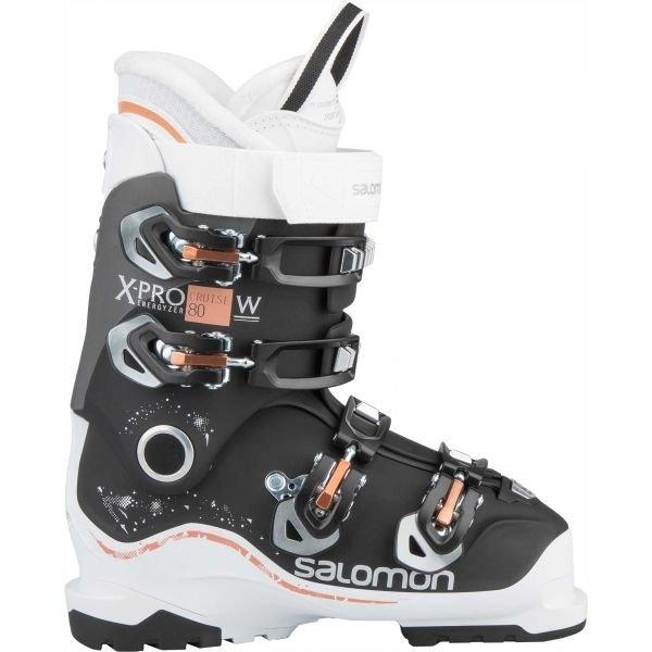 Bílo-černé dámské lyžařské boty Salomon