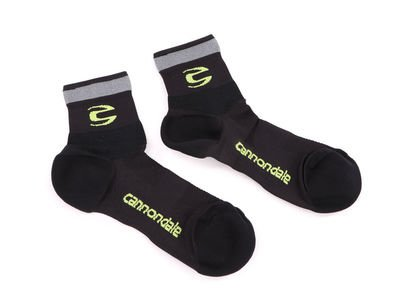 Černo-zelené pánské ponožky Cannondale