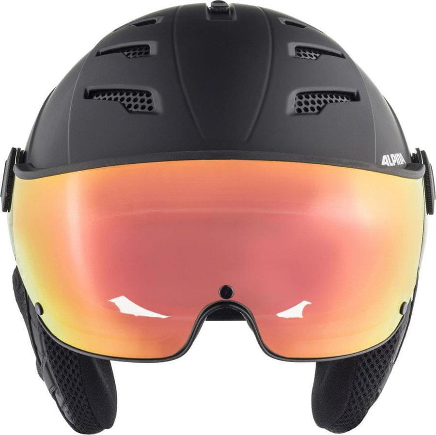 Černá lyžařská helma Alpina Sports