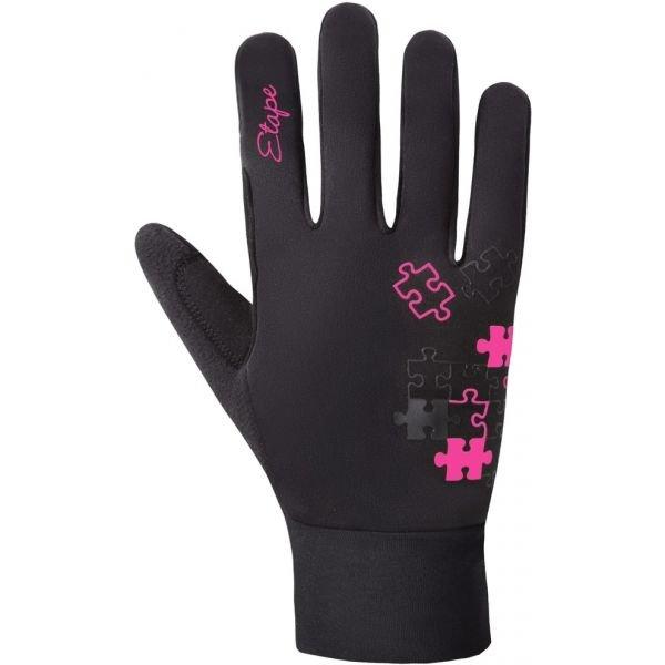 Černé dívčí rukavice na běžky Etape