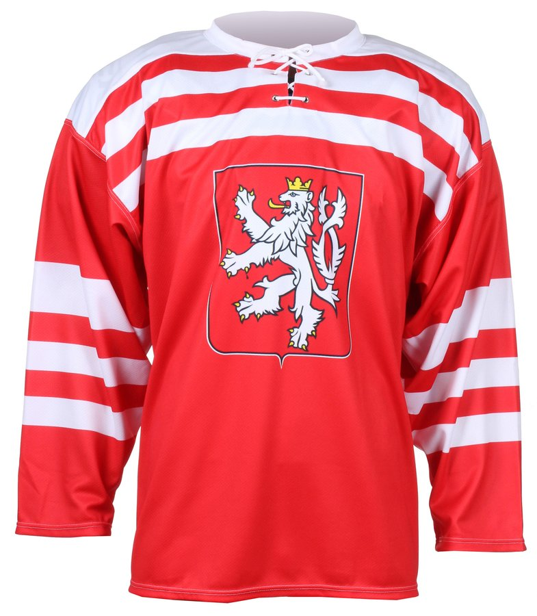 Červený unisex hokejový dres Replika ČSR 1947, Merco