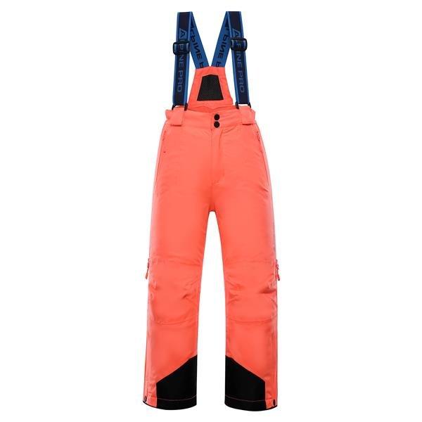 Růžové dětské lyžařské kalhoty Alpine Pro - velikost 104-110