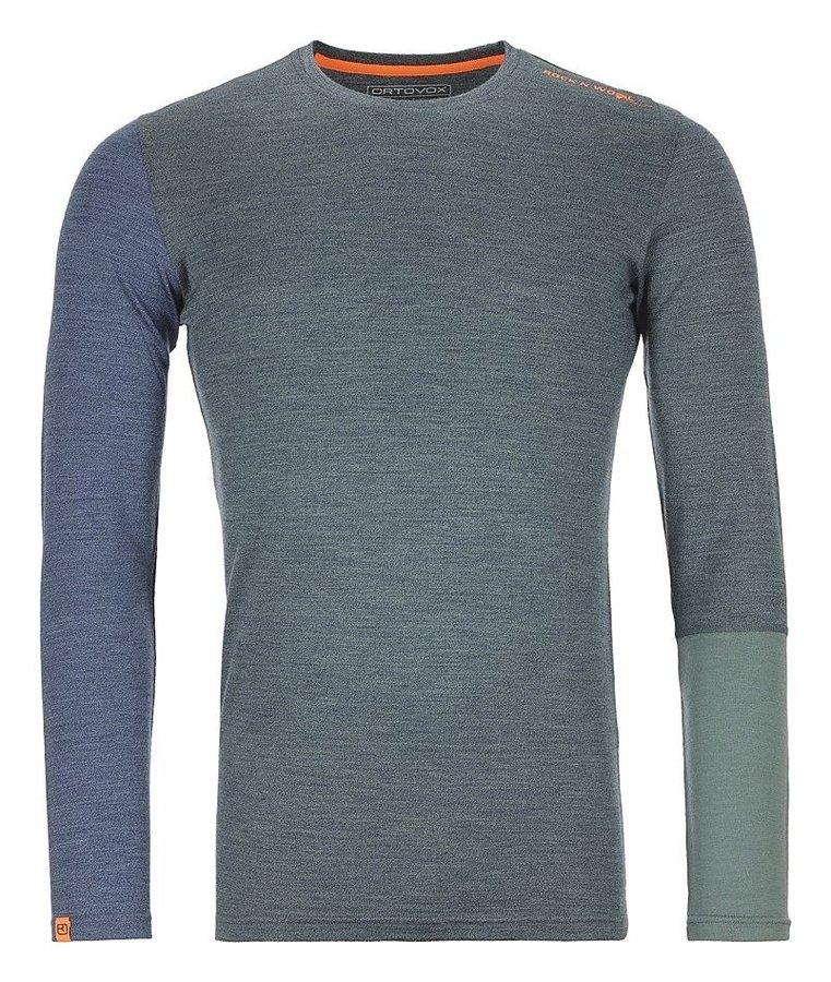 Modré pánské termo tričko s dlouhým rukávem Ortovox