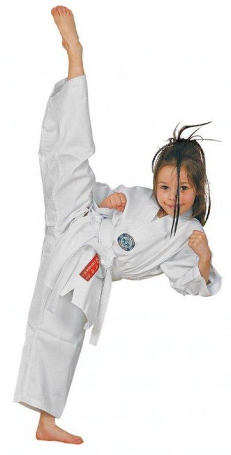 Bílé kimono na taekwondo