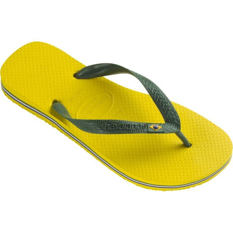 Žabky - ŽABKY HAVAIANAS BRAZIL - žlutá - US 37/38