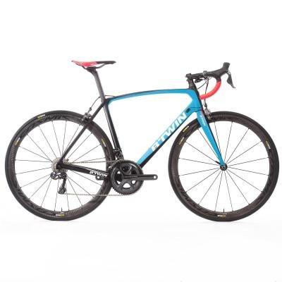 Modrý silniční pánský nebo dámský bicykl Ultra 740, B'TWIN