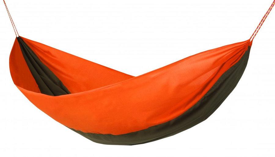 Oranžová houpací síť pro 2 osoby Hamaka