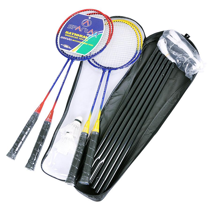 Sada na badminton - Badmintonový set se sítí Spartan pro 4 hráče