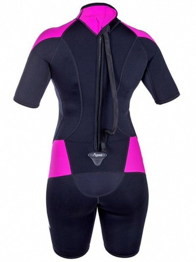 Černo-růžový krátký dámský neoprenový oblek TROPIC, Agama - velikost 46