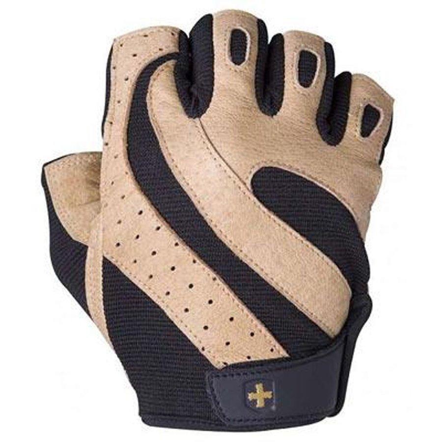 Černo-oranžové pánské fitness rukavice Harbinger - velikost S