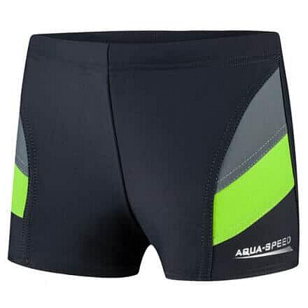 Plavky - Aqua-Speed Andy chlapecké plavky s nohavičkou modrá barva: šedá-zelená;velikost oblečení: 116