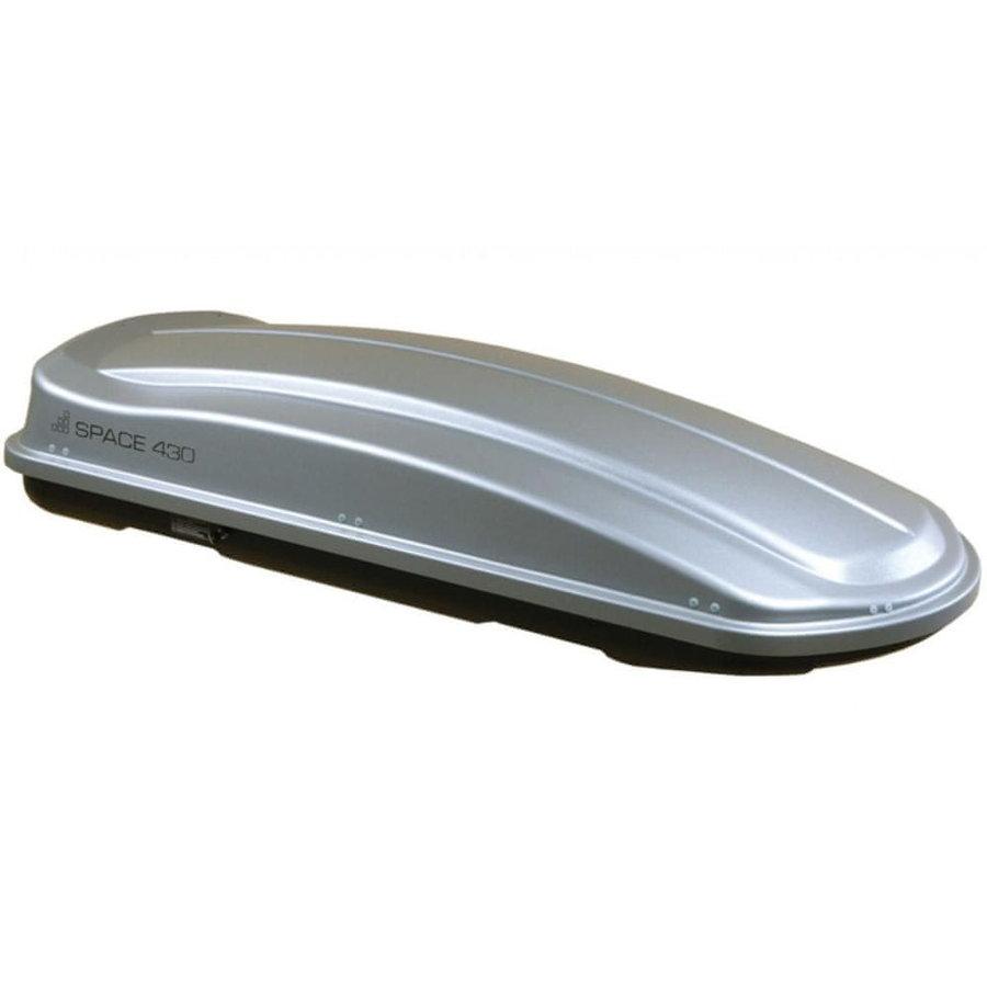 Stříbrný střešní box Levup - délka 190 cm a šířka 78 cm