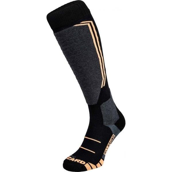 Černo-oranžové lyžařské ponožky Blizzard