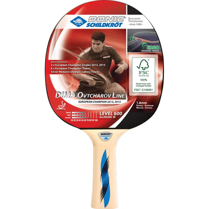 Dřevěná pálka na stolní tenis Ovtcharov 600 FSC, Donic