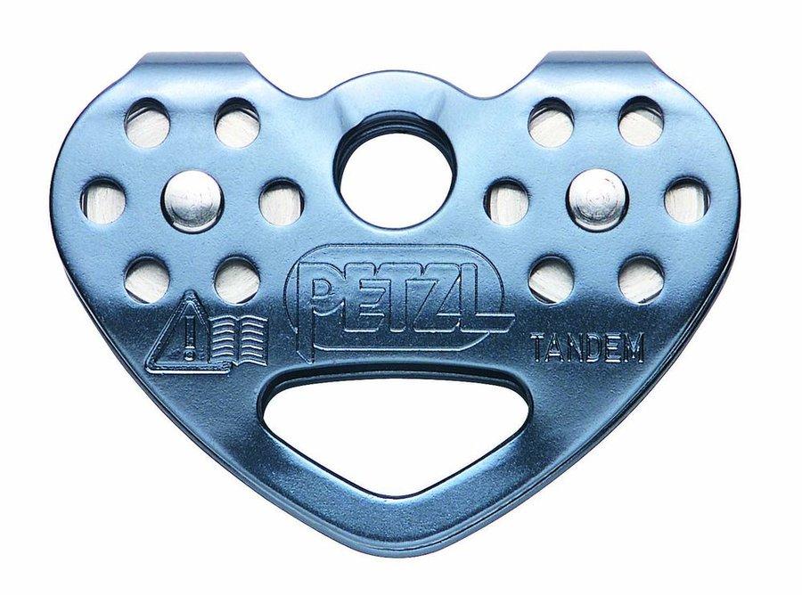 Stříbrná kladka dvojitý Petzl